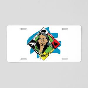 Native American Medicine Wh Aluminum License Plate