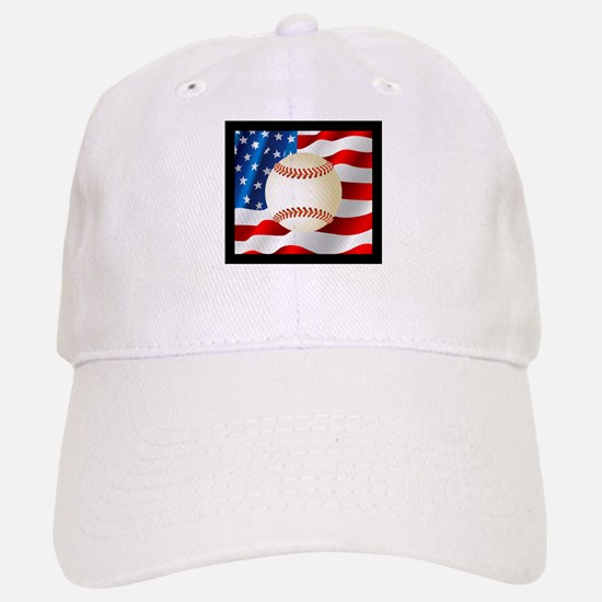 Baseball Ball On American Flag Baseball Baseball Baseball Cap