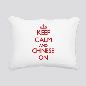 Keep Calm and Chinese ON Rectangular Canvas Pillow