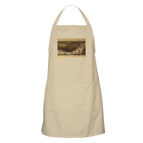 New Orleans and Mississippi R BBQ Apron