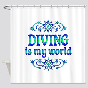 Diving is my World Shower Curtain