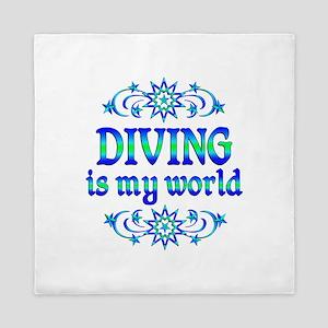 Diving is my World Queen Duvet