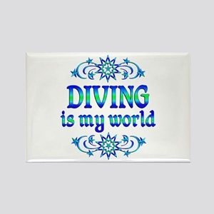 Diving is my World Rectangle Magnet