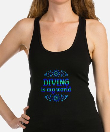 Diving is my World Racerback Tank Top