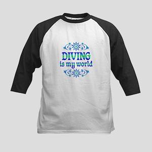 Diving is my World Kids Baseball Jersey