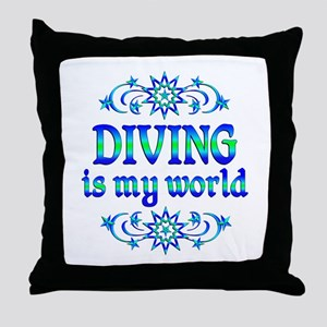 Diving is my World Throw Pillow