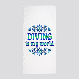 Diving is my World Beach Towel