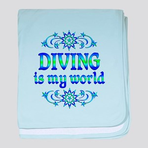 Diving is my World baby blanket