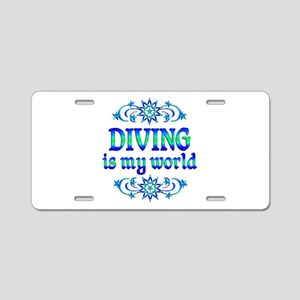 Diving is my World Aluminum License Plate