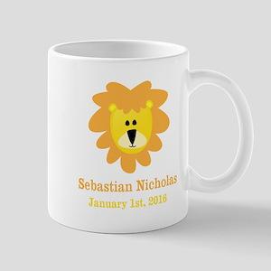 CUSTOM Lion w/Baby Name and Birth Date Mugs