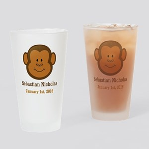 CUSTOM Monkey w/Baby Name and Birthdate Drinking G