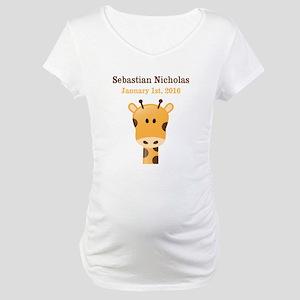 CUSTOM Giraffe w/Baby Name and Birthdate Maternity