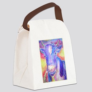 Cow! Colorful, art! Canvas Lunch Bag