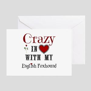 English Foxhound Greeting Cards
