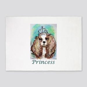 Princess! Puppy, dog, art! 5'x7'Area Rug