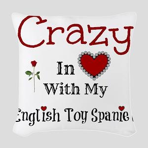 English Toy Spaniel Woven Throw Pillow