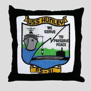 USS HUNLEY Throw Pillow