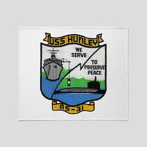 USS HUNLEY Throw Blanket