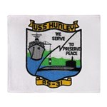 USS HUNLEY Throw Blanket