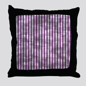 Vintage Purple Candy Stripes Throw Pillow