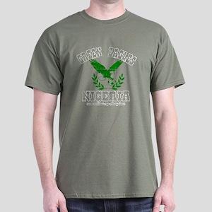 Green Eagles Retro design Dark T-Shirt