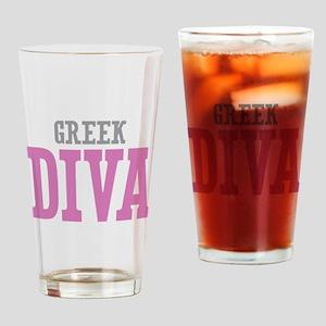Greek Diva Drinking Glass