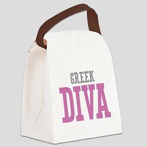 Greek Diva Canvas Lunch Bag