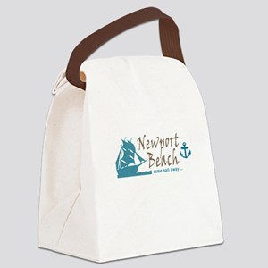 Newport Beach Sailing Canvas Lunch Bag