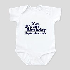 September 20th Birthday Infant Bodysuit
