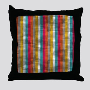 Vintage Vertical Stripes Throw Pillow