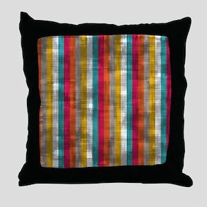 Vintage Vertical Stripes Throw Pillow