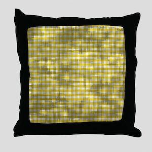 Vintage Yellow Gingham Pattern Throw Pillow
