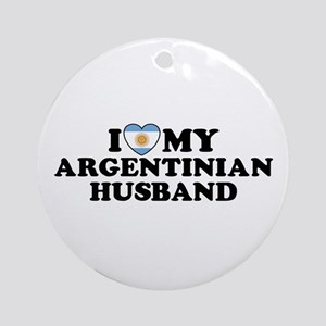 I Love My Argentinian Husband Ornament (Round)