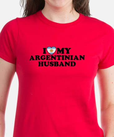 I Love My Argentinian Husband Women's Dark T-Shir