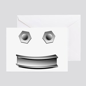 I Beam Face Greeting Card