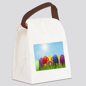 easter eggs Canvas Lunch Bag