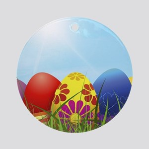 easter eggs Ornament (Round)