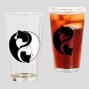 Sheltie Balance Drinking Glass