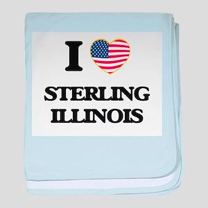 I love Sterling Illinois baby blanket