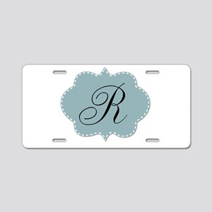 Teal Monogram by LH Aluminum License Plate