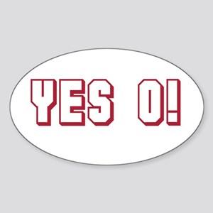 Yes O! Oval Sticker