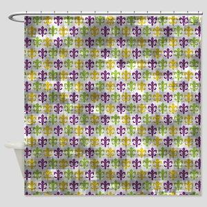 Vintage Fleur-de-lis Pattern Shower Curtain