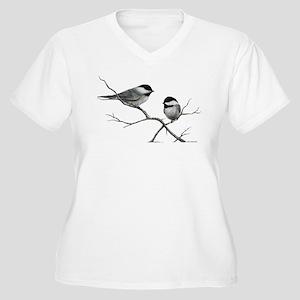 chickadee song bird Plus Size T-Shirt