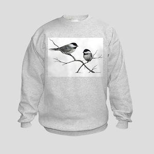 chickadee song bird Kids Sweatshirt