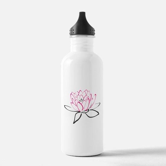 Lotus Flower Water Bottle