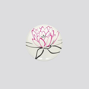 Lotus Flower Mini Button