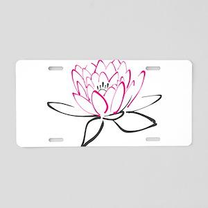 Lotus flower buddhist symbol aluminum license plates cafepress lotus flower aluminum license plate mightylinksfo