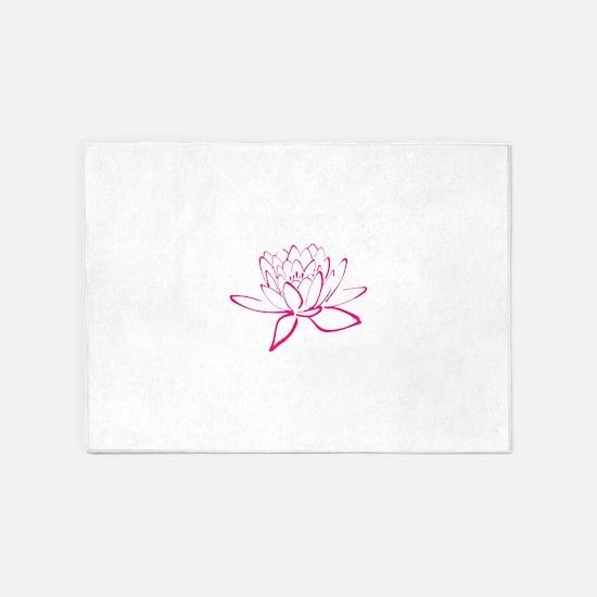Lotus Flower 5'x7'Area Rug