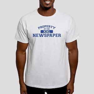 Property Of The Newspaper XXL Light T-Shirt