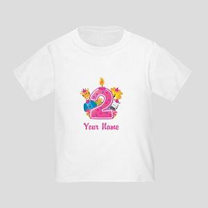 CUSTOM 2 years old Pink T-Shirt